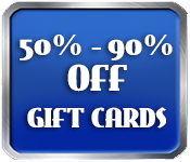 50-90% OFF Gift Cards